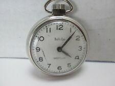 Bull's Eye Pocket Watch by Westclox Silver Colored Textured Back T