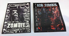ROB ZOMBIE 2-Pack of Stickers Call Of The Zombie/Hellbilly Deluxe NEW OFFICIAL