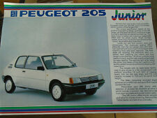 Peugeot 205 Junior Special Edition brochure Dec 1987