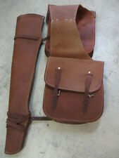 Used Tack Saddle Bags Gun Scabbard horn bag leather roughout Western hunting