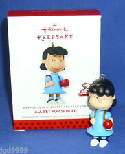 Hallmark Happiness is Peanuts All Year Long #2 2013 Lucy All Set for School Nib