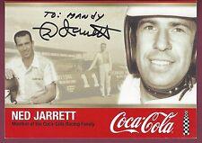 "Ned Jarrett, NASCAR Driver, Signed 7"" x 5"" Photo, COA, UACC RD 036"