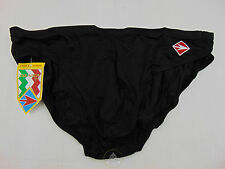 Vintage 80 DIANA Slip XXS XS Costume Mare 1 Trunks Shorts Sea Pool Nero Piscina