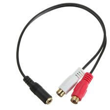 3.5mm Stereo Female Jack To 2 RCA Female Jack Audio Adapter Splitter Cable Cord