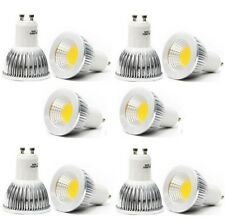 10x GU10 6W CREE Dimmable COB LED spot Light Bulb Downlight lamps silver Cool WH