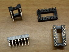 "14 Pin Turned Pin IC Socket DIL 0.3"" narrow Way DIP chip DIL"