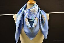 "Authentic HERMES Scarf ""AZVLEJOS"" Silk Blue 23631"