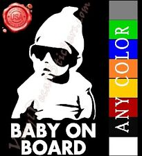 """7"""" x 4"""" BABY ON BOARD Vinyl Decal Stickers Cool Funny Hangover Awesome"""