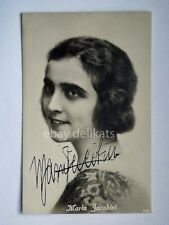 AUTOGRAFO Autograph MARIA JACOBINI attrice cinema muto silent movie foto 649
