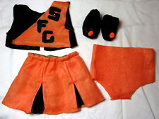 Doll Clothes 18 inch, Fit American Girl Alexander 3Pc Orange Black Cheer + Shoes