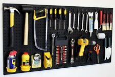 Black Pegboard Kit Wall Storage - Workbench Organizer Peg Board Shop Tools