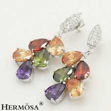 65% Off Morganite Amethyst Garnet Peridot 925 Sterling Silver NEW Earrings