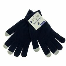 4 Pack Touch Screen Texting Gloves Stretch Winter Knit Black Men smartphone New