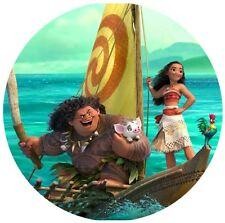Moana Round Edible Party Cake Image Topper Frosting Icing Sheet