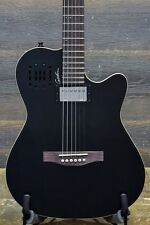 "Godin A6 Ultra Black High Gloss ""SF"" Electro-Acoustic Guitar w/ Bag #16052164"