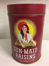 1987 Vintage Sun-maid Raisins Collectible Metal Tin • Near MINT!