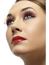 Red & Silver Long Eyelashes Smiffys 36535 Sent from UK - Ladies Fancy Dress