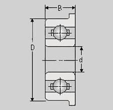 Miniatur Kugellager F608 ZZ, 8x22x7, F 608 ZZ