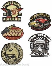33 King Kerosin Set speedfreak Adesivo/Sticker/Rockabilly/Hot Rod/fanalino/v8