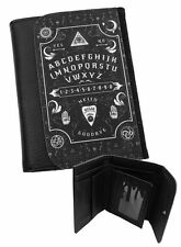 OUIJA BOARD Mens Wallet Black Faux Leather / Gifts for men / Occult / Magic