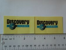 "2.5"" x 2""  DISCOVERY CHANNEL  Logo Vinyl  clear background 2 decal stickers"