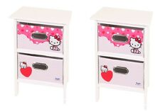 Hello Kitty 2 X 2 Drawer Bedroom Chest Storage Units