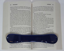BookBone® Weighted Rubber Bookmark - Holds Books Open - BLUE - Made in USA