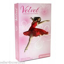 Moods Velvet Female Women Latex Condoms 3 Pcs