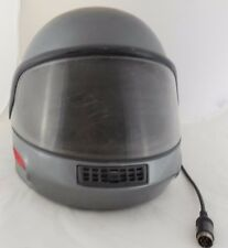 Vintage Gunmetal Gray BMW System D.O.T. Full Motorcycle Helmet Retro Unique