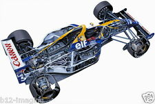 Williams F1 Mansell FW14 Motorsport cutaway Large promo poster