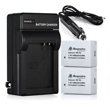 Battery For Canon PowerShot SX60 SX50 SX40 HS G15 G16/2 Pcs NB-10L+ Charger