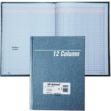 "National 56-312 12 Column Columnar Book, Granite Series, 9-1/4 x 7"", 80 Pages"