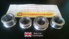 CBR600 F4  2001- 2006 Captive race wheel Spacers. Full set.