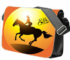 Personalised School / College / Large Messenger Bag Add a Name, Horse Picture
