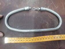 collana bagno argento indiano  200 gr INDIAN SILVER snake necklace 45-47  CM