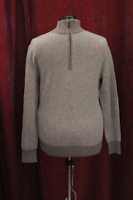 NWT Mens Small Daniel Cremieux Blue Heather Zip Wool & Cashmere Sweater $195 New