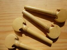 BAROQUE STYLE VIOLIN PEGS, BOXWOOD, FULL SIZE 4/4, 4 PIECES, UK SELLER!