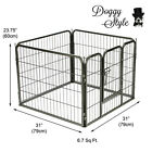 Heavy Duty 4 Piece Puppy Dog Play Pen Run Enclosure Welping Pen Playpen HD02S