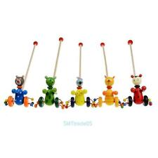 Cartoon Baby Toddler Coagent Toys Child Putting Animal Wood Puzzle Trolley Game