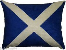 FILLED EVANS LICHFIELD SCOTLAND SALTIRE MADE IN UK FLAG BLUE CUSHION 43 X 33CM