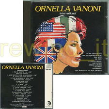 "ORNELLA VANONI ""INTERNATIONAL"" RARO CD RICORDI CDOR NO BARCODE"