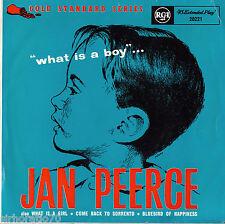 JAN PEERCE What Is A Boy EP 1958 MONO