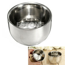 7.2cm Stainless Steel Metal Men's Shaving Mug Bowl Cup For Shave Brush