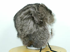 MEN RACCOON FUR RUSSIAN CHAPKA TRAPPER HAT FULL FUR Sz. 23'' M n292