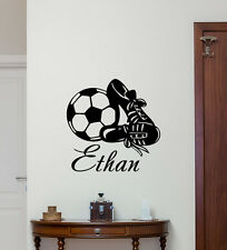 Personalized Name Soccer Wall Decal Custom Vinyl Sticker Football Mural 153nnn