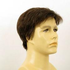 Perruque homme 100% cheveux naturel châtain ref FRANCOIS 6spw