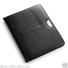 REAL LEATHER A4 CONFERENCE FOLDER - UNZIPPED 100% BONDED LEATHER - BRAND NEW