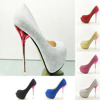 Glitter Shimmer Evening Party Queen Open Toes Super Platform High Heels