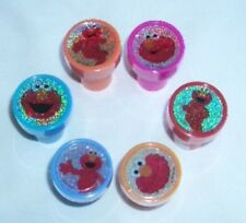 6 pieces Sesame Street Elmo Self Inking Stamper Pencil Topper Party Favor Loot