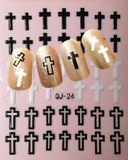 Nail Art 3D Decal Stickers Cross Christian Easter Christmas QJ-24